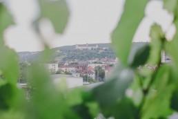Ausblick über Würzburg bei der Weingut Hochzeit mit Hochzeitsfotograf Conny Schöffmann Photography